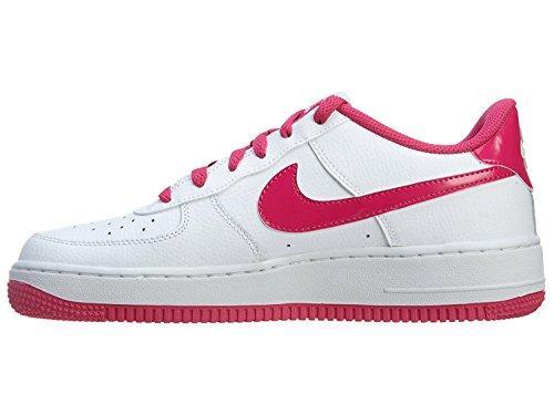 NIKE Air Force 1(GS) Chaussures de Filles de basket-ball 314219–600 Blanc/rose fuchsia