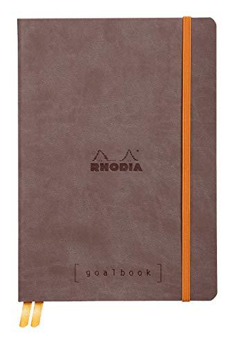 Rhodia 117742C Goalbook Notizheft (DIN A5, 14,8 x 21 cm, Dot, praktisch und modern, mit weichem Deckel, 90g, elfenbeinfarbigem Papier, 120 Blatt, Gummizug, Lesezeichen) 1 Stück, schwarz -