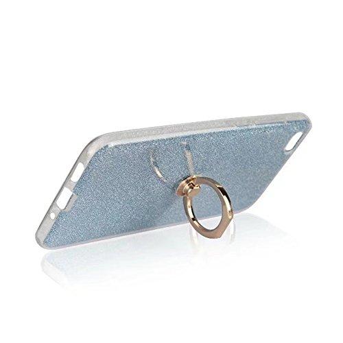 Housse de protection TPU Soft Flexible Coquille de protection contre les chocs avec Bling Glitter Sparkles et Kickstand pour Xiaomi 5C ( Color : Pink ) Blue