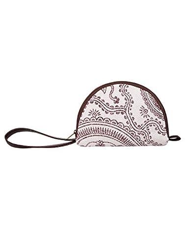 Indian Baumwolle & Durrie Weiß Pouch Designer Handblock Gedruckt Für Frauen (Hippie Vintage-wrap)