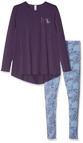 Skiny Mädchen Cosy Night Sleep Girls Pyjama lang Zweiteiliger Schlafanzug, Violett (Grape 2161), (Herstellergröße: 164)
