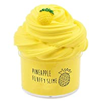 BESTZY Pineapple Fruit Fluffy Foam Slime Clay Putty Scented DIY Light Soft Slime Toy,Fairy Putty Stress Relief Toy Scented Sludge Toy Kids Adults (200ML)