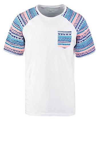 YOURTURN Herren T-Shirt mit Tasche Print Mehrfarbig, L