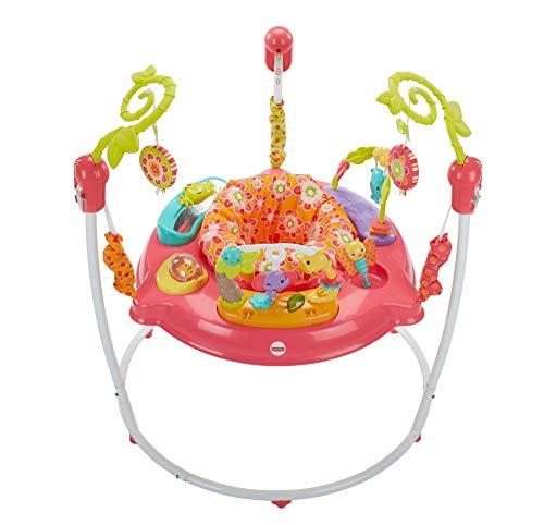 Fisher-Price Petals Jumperoo Baby Activity-Center mit Musik und Lichtern, Rosa