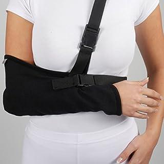 ArmoLine Arm Sling Breathable Gabardine for Adult Black Broken Arm Bandage for broken wrist shoulder immobilizer (M) (M)