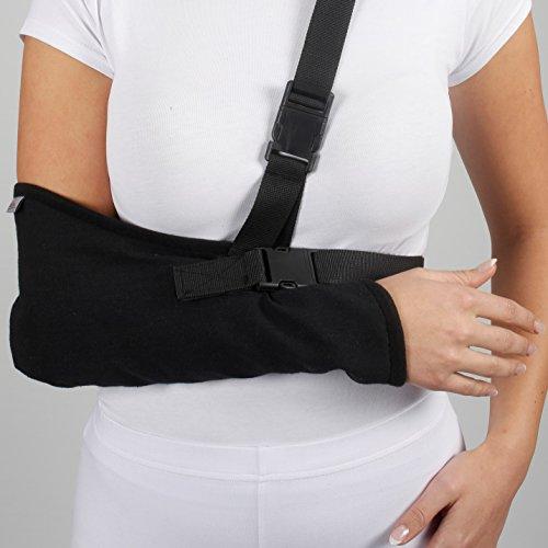 armoline Armschlinge atmungsaktiv Gabardine für Erwachsene schwarz Broken Arm für defekte Handgelenkbandage Schulter Wegfahrsperre (M)