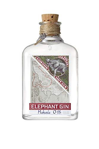 Elephant London Dry Gin (1 x 0,5l) -  preisgekrönter Premium Gin mit afrikanischen Wurzeln, Premium Gin Tonic Spirituose -