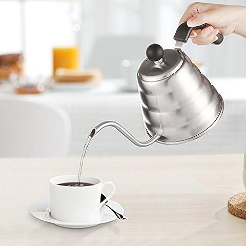 Decen Tee- Kaffee Kessel, Edelstahl Kaffeebereiter Kaffeekanne Teekanne Gooseneck Kettle,