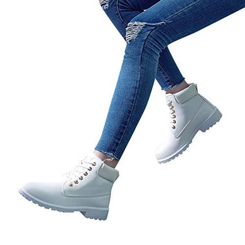 TianWlio Stiefel Frauen Herbst Winter Schuhe Stiefeletten Boots Mode Retro Solide Knöchel Dicke...