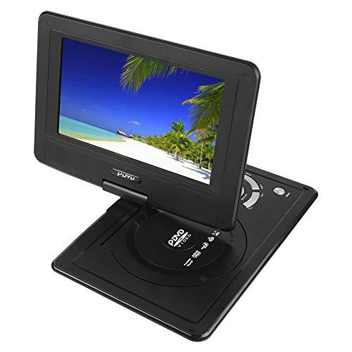 """VBESTLIFE 9 """"Tragbarer DVD-Player, Mini-Auto-CD-TV/Spielfunktions-Schwenker 16: 9-Bildschirm großer Speicher mit wiederaufladbarer Batterie für Auto/Zuhause/Outdoor(Schwarz)"""