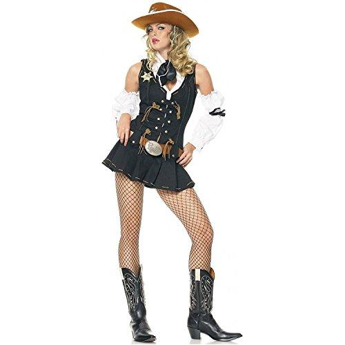 Leg Avenue - Wild West Sheriff Kostüm - XS - Schwarz - 83365