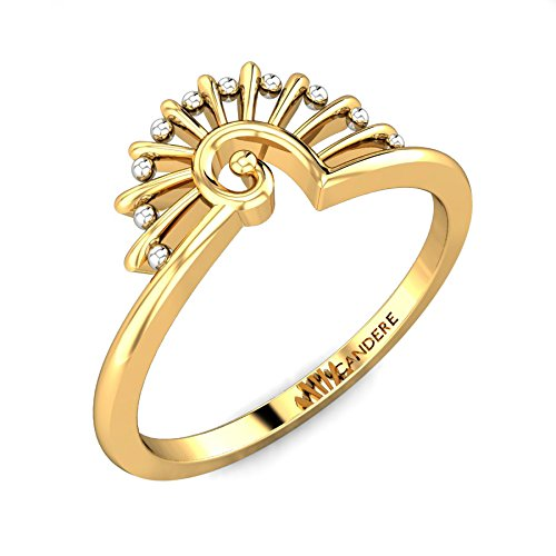 ( 10. ) Candere By Kalyan Jewellers 22k (916) Yellow Gold Cindrella Ring