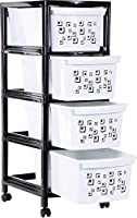 This Aufers plastic drawer unit is perfect for organizing crafts, garages, and desks.   As the storage unit is small it can be easily placed on a desk.   This particular unit has 2 tiers and comes ready assembled.   Also good to keep your cosmetic...