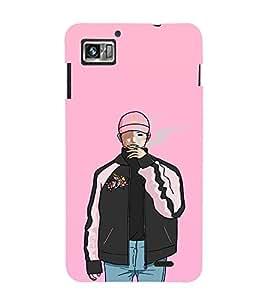 EPICCASE Smoking guy Mobile Back Case Cover For Lenovo K860 (Designer Case)