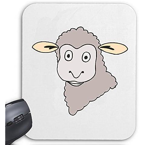 """Tappetino per mouse (mouse) """"pecore viso a forma di marchio Trick divertimento piggle Serie Dvd"""" per il portatile, computer portatile o Internet PC .. (con Windows Linux ecc.)"""