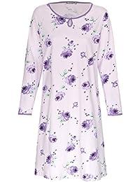 Nachthemd Damen Schlafhemd aus 100% Baumwolle Gr. M L XL XXL