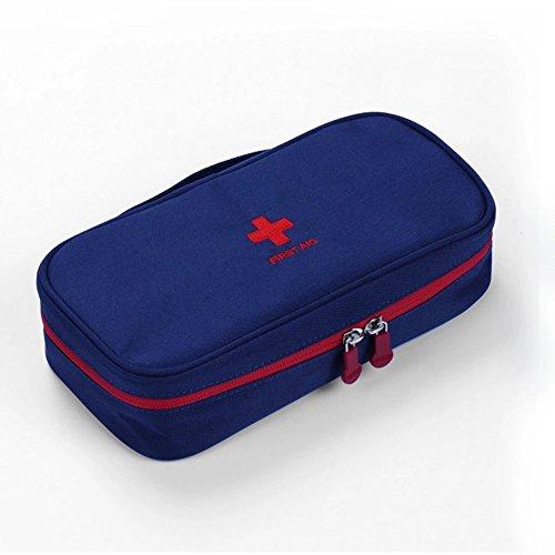Erste Hilfe Set,Lifesport Erste-Hilfe-Koffer First Aid Kit Notfalltasche Oxford Medizinisch Tasche Klein kompakt Perfekt Design für Haus Auto Camping Jagd Reisen Natur und Sport (Dunkelblau)