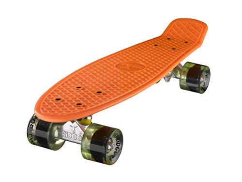 "Ridge Skateboards Mini Cruiser Skateboard, Arancione/Chiaro Verde, 22"""