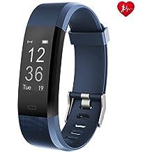 Arbily Fitness Tracker Heart Rate Monitor Smart Pulsera Actividad rastreador Deporte podómetro con Impermeable/Call