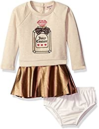 Juicy Couture Baby Girls' Dress with Faux Pleather Skirt