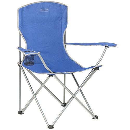 Highlander sedia da campeggio pieghevole sedia da outdoor resistente e leggera - perfetta per campeggio, festival, giardino, viaggi in camper, pesca, spiaggia e grigliate (color verde oliva) (blu)