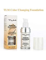 TLM Color Changing Foundation, TLM Concealer-Abdeckung, Make-up-Abdeckung für Gesicht und Hals, 30 ml Concealer, Primer Langlebig und Perfekte Abdeckung