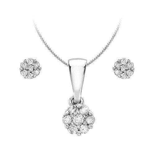 Carissima Gold Damen SchmuckSet 9 Karat (375) Weißgold Diamant 460 mm 5.45.2994
