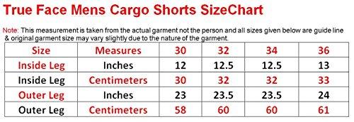New Men's True Face Summer Cargo Combat Shorts Black
