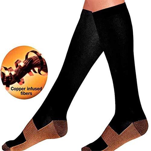 3 Para Unterstützung Kompressionsstrümpfe Kompressionssocken Fuß Anti Müdigkeit Wunder Kupfer Anti Müdigkeit Compression Socks Groß