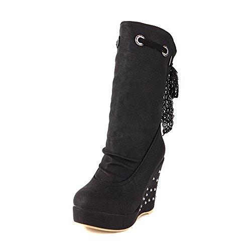 adeesu-ladies-riband-rivet-platform-black-soft-material-boots-4-uk