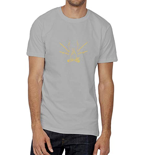 LumaShirts Christmas Hot Fire Wood Marshmallow_009416 Shirt T-Shirt Tshirt T Shirt For Men Mens Cute Funny Gift Present Boys LG Grey T-Shirt