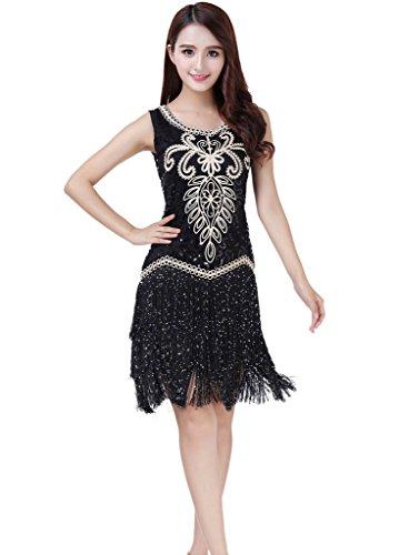 intage Gastby Kleider Cocktail Flapper Partei-Kleid Kostüm (Kostüme Flapper Kleid)