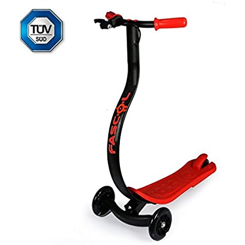 FASCOL@Patinete / Scooter de pie Plegable para Niños de 6-15 Años. Carga Máxima de 30kg. 2 Años de Garantía. Rosa / Azul / Negro