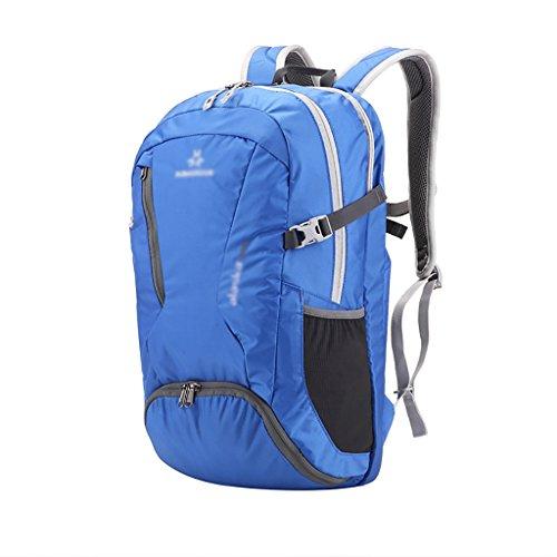 HWLXBB Borsa per alpinismo all'aperto Uomini e donne 30L Borsa per alpinismo multifunzione impermeabile Escursioni alpinismo Zainetto per il tempo libero all'alpinismo zaino ( Colore : A ) A