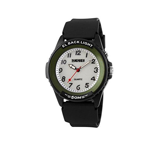 zonman® Man 's Fashion Quarz Zeit Display 5ATM Luminous Sport Military Armbanduhr grün grün (Womens Watch Victorinox)