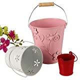 #10: Set of 3 Multipurpose Colorful Decorative Buckets for Wedding Favors, Chocolates, Flowers, Stationery and More