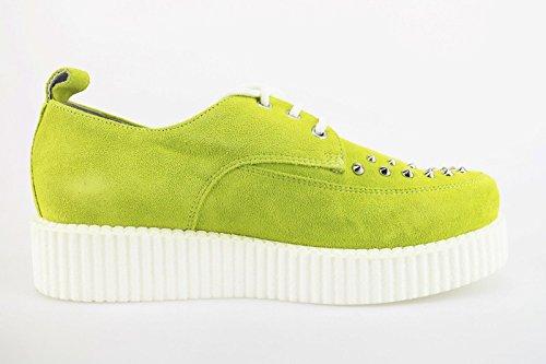 CULT sneakers donna verde / fucsia camoscio borchie Verde