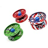 AK New Style Limited Edition Special Anime Figure Professional Compact Light Weight Metal Yoyo With String And Ball Bearing Set Of 3 At Random