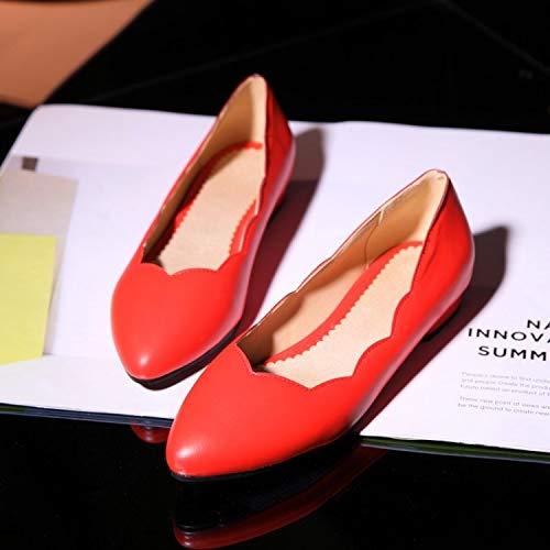 MENGLTX High Heels Sandalen Damen Frau Frauen Wohnungen Boot Espadrilles Sommer Stil Sapatilha Homme Schuhe 277 11 Rot