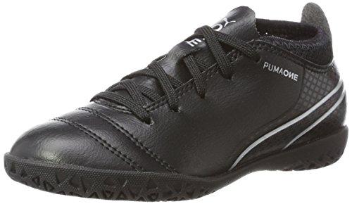 PUMA Unisex-Kinder ONE 17.4 IT Jr Fußballschuhe, Schwarz Black-Silver, 35 EU