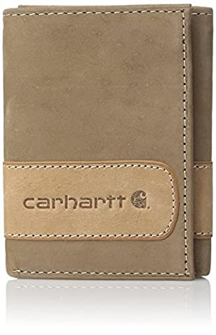 Carhartt Men's Two Tone Trifold Wallet,Brown,One