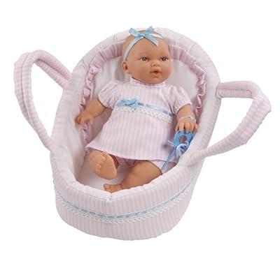 Muñecas Arias - Muñeco bebé llorón con capazo (50045) por Muñecas Arias