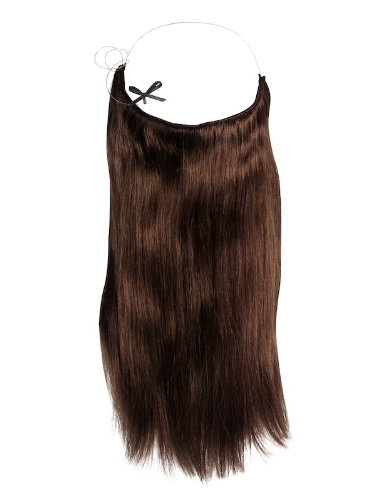 Halo 16 inch Chocolate Brown Hair Extensions (Hair Extensions Halo Brown)