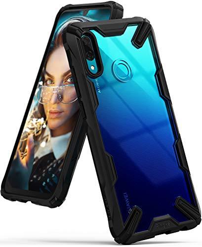 Ringke Fusion-X für Huawei P Smart 2019 Hülle, Ergonomische Transparent Schutzhülle Hart PC Rückseite Case TPU Rahmen Bumper Cover Kratzfest Handyhülle für P Smart 2019 - Schwarz Black