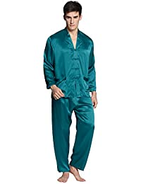 LILYSILK Pyjama Homme 100% Soie 22 Momme avec Boutons Traditionnels Chinois