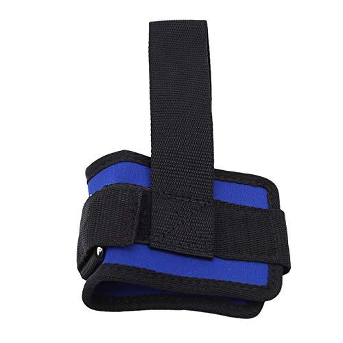 Bigsweety Sport Ankle Anker Armband Doppel D Ring Gym Bein Riemenscheibe Strap Hebe Fitness Elastische Übung Band (Blau) -