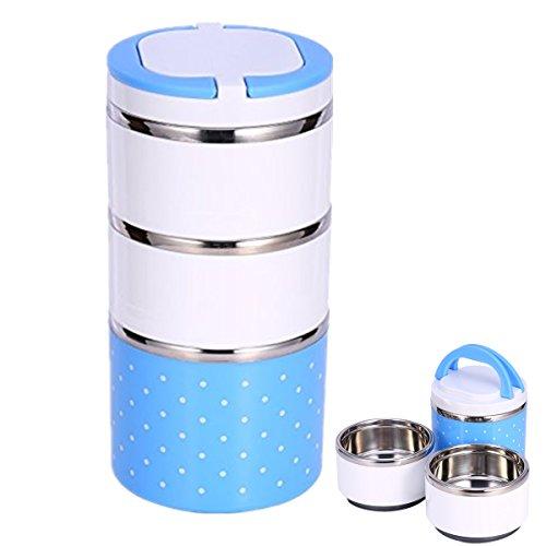 Contenitore termico per alimenti Doppio contenitore porta pranzo termico