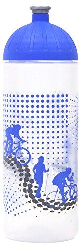 ISYbe Original Marken-Trink-Flasche für Kinder und Erwachsene, 700 ml, BPA-frei, Sport-Motiv, geeignet für Schule, Reisen, Sport & Outdoor, Auslaufsicher auch mit Kohlensäure, Spülmaschine-fest (Geburtstag Kulissen Ideen)