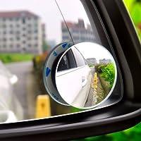 Rétroviseur Grand Angle, Blind Spot Miroir,Rotatif 360° Réglable Miroir d'Angle Mort,Rétroviseur avec tous genre de voitures polyvalent petiet miroir rond sans bord le pur verre direct fabricant de Ma