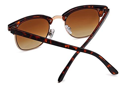 8f210a151a Vintage Lunettes de soleil style browline 1960 avec cadre markantem à  moitié Club Master Wayfarer -